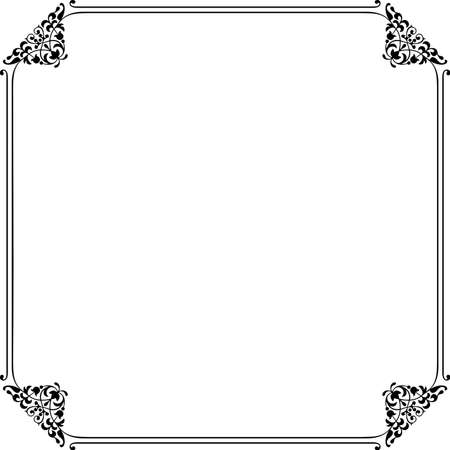 Decorative frame on white Stock Vector - 10332447