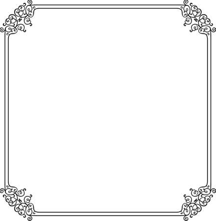 Decorative frame on white Stock Vector - 10332450