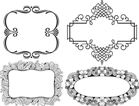 Decorative frames on white Stock Vector - 10332520