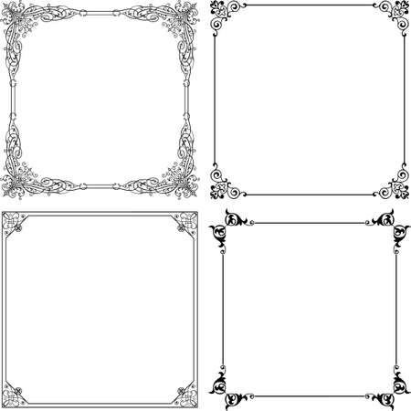 Decorative frames on white Vector