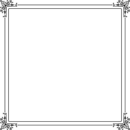 engrave: Decorative frame on white