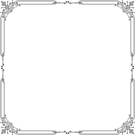 Decorative frame on white Stock Vector - 10332485