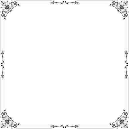 Decorative frame on white