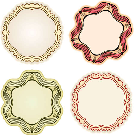 Elegance frames on white Vector