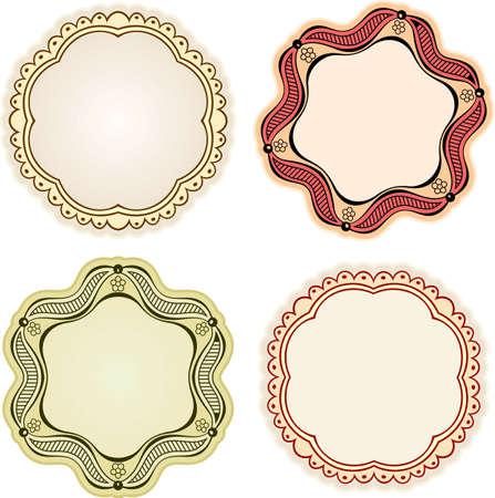 Elegance frames on white Stock Vector - 10332510
