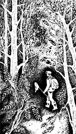 ne: Tourist in the forest