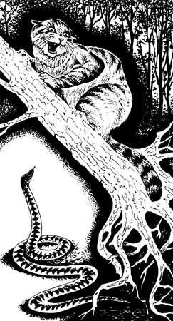 lince: Lince y serpiente