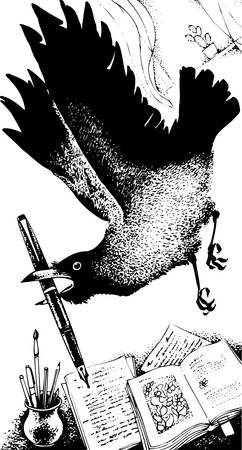 raven:  Thief raven Illustration