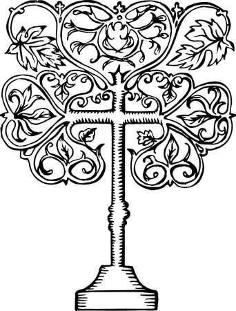 crist: Crist tree on white Illustration