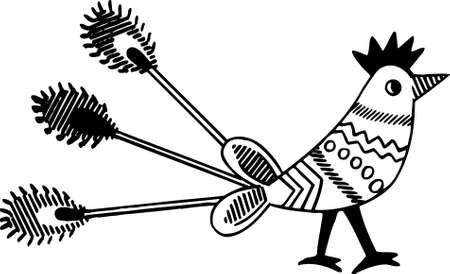 rekodzielo: Rękodzieło ptaka na białym