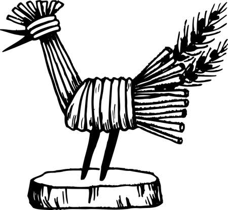 handcraft: Handcraft cock on white