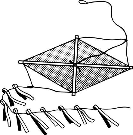rekodzielo: Rękodzieło latawiec na białym Ilustracja