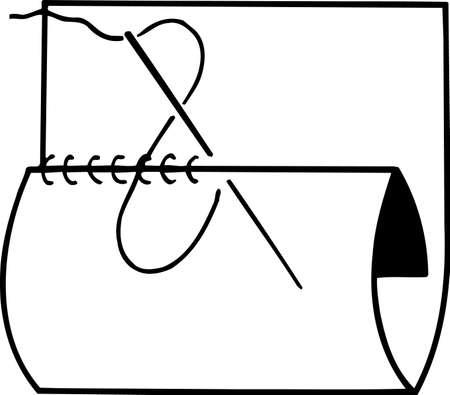 handcraft: Handcraft sewing on white