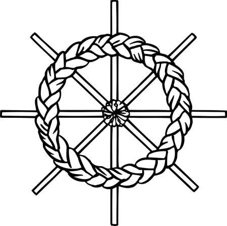 playroom: Handcraft wreath on white Illustration