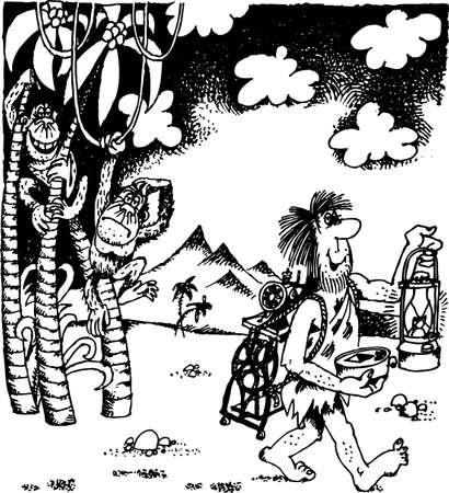 sapiens: Evolution Illustration