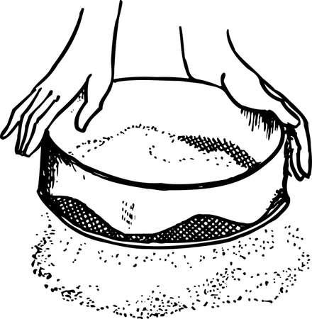 separating: Separating breadstuff Illustration