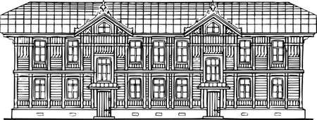 House on white Stock Vector - 10349522