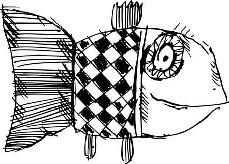 poisson rigolo: Poisson de jouet sur fond blanc