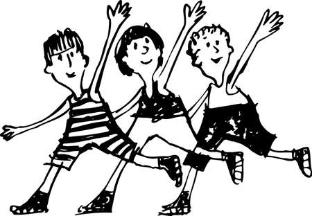 Children on white Stock Vector - 10349469