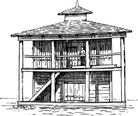 House on white Stock Vector - 10370547