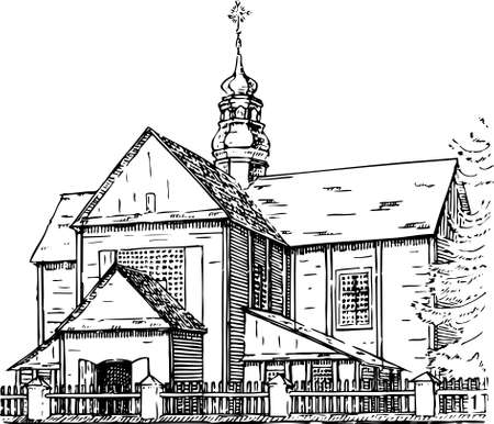 old church: Church Illustration