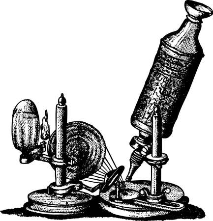 Old fashioned microscope Stock Vector - 10370292