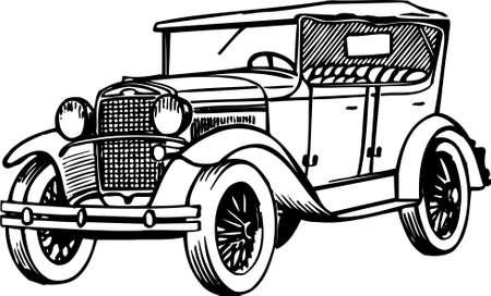 carro antiguo: Viejo coche Vectores