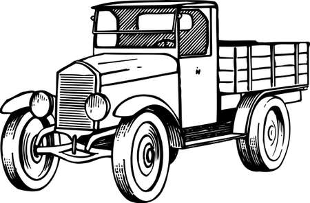 carro antiguo: Un coche antiguo