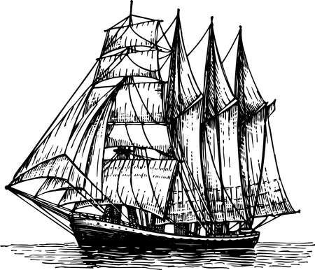 brigantine: Sailboat Illustration