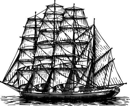 nautical vessel: Sailboat Illustration