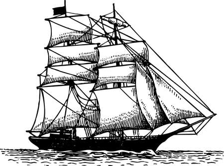 vecchia nave: Barca a vela