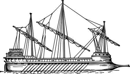 galley: Galley at sea Illustration