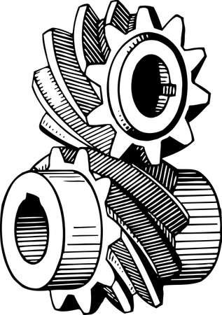 cogs: Engranajes Vectores
