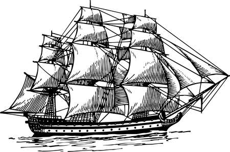 sailing ship: Sailboat Illustration