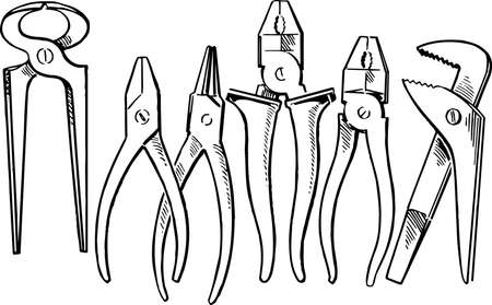 putty knives: Pliers