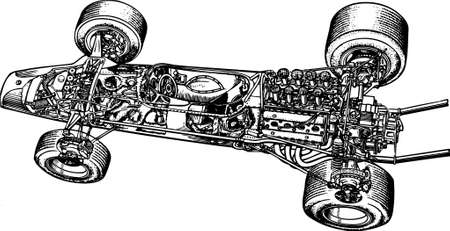 wire mesh: Car draw Illustration