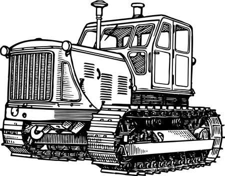 agronomics: Tractor Illustration