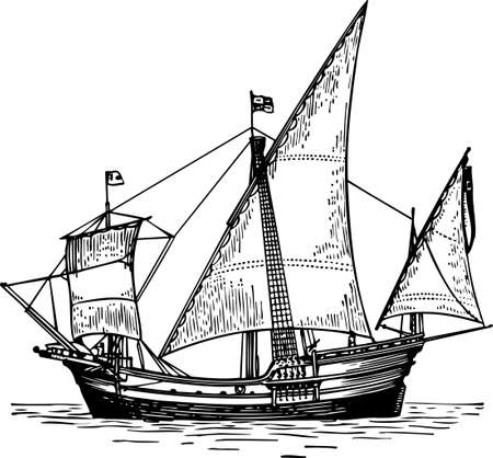 brigantine: Sailboat Illustration