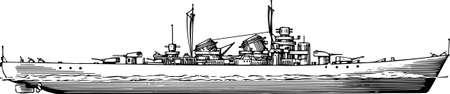 a battleship: Military navy ship