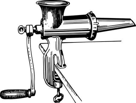 molinillo: Máquina de picar carne Vectores