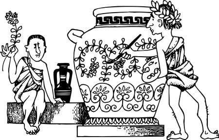 vasi greci: Vaso antico pittore