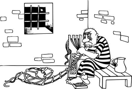 Prisoner escape from jail with homemade ladder