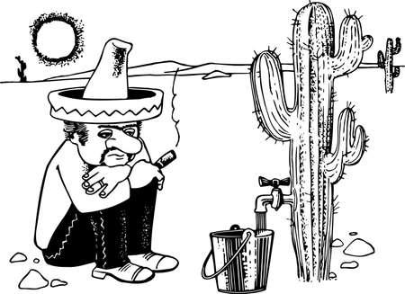 mexican sombrero: Uomo messicano