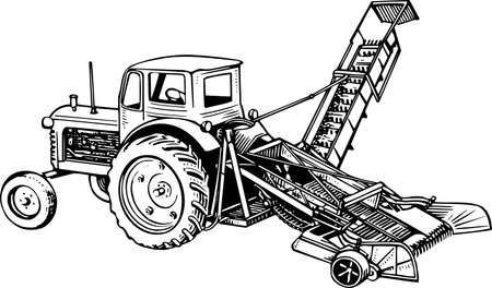 farm equipment: Tractor Illustration