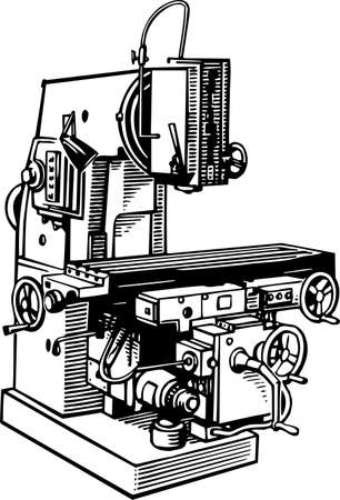 drilling machine: Machine tool Illustration