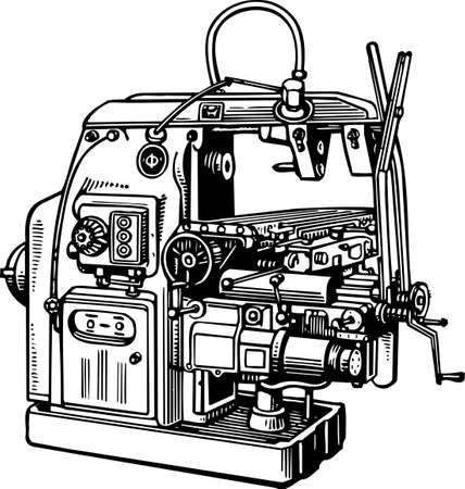 lathe: Machine tool Illustration