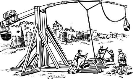 Trebuchet (Frondibale) Illustration