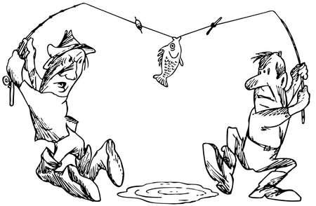konflikt: Fishing jak bitwa Ilustracja