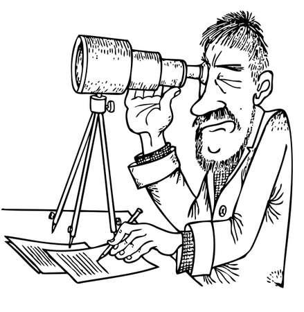 magnification: Scientist Illustration