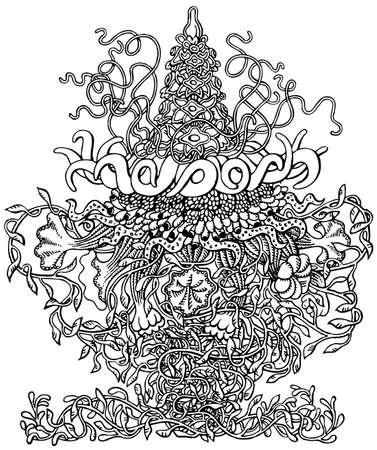 hydra: Hydra Siphonophores Illustration